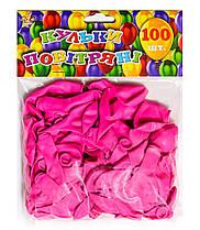 Шар воздушный 13 см стандарт роз. 100шт/уп