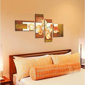"""Модульная картина цветы """"9 орхидей в золоте"""""""