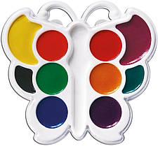 Краски акварельные Луч медовые 10 цветов Бабочки без кисточки 10С548-08