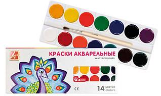 Краски акварельные Луч медовые 14 цветов Зоо (Мини) без кисточки 22С1418-08