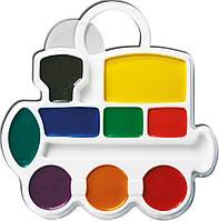 Краски акварельные Луч медовые 9 цветов Паравозик без кисточки 11С683-08