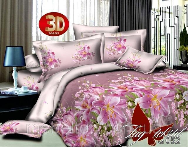 Евро комплекты постельного белья Поликоттон 3D