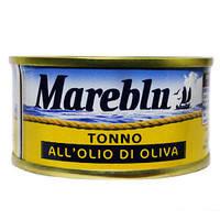 Консервированный тунец Mareblu Tonno в масле 80г, фото 2