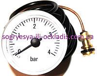 Манометр давления воды 0-4 bar (без фир.уп, Италия) котлов Ariston Clas, Genus, Egis, арт.MA21I, к.с.0789