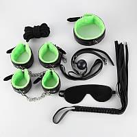Эротический секс набор для тематических BDSM игр (черно-зеленый)