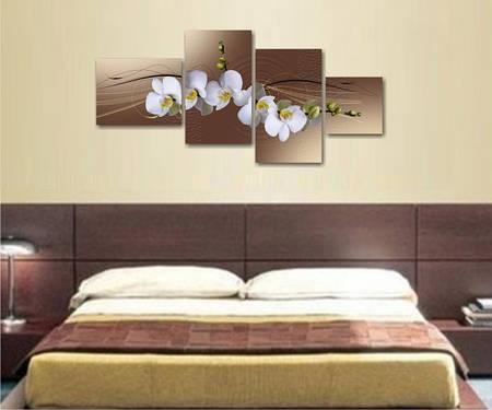 """Модульная картина  """"Цветы орхидеи"""""""
