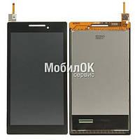 Дисплей для Lenovo Tab 2 A7-10/ Tab 2 A7-20F черный, с тачскрином (131741E1V1. 6)