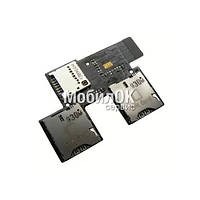 Коннектор SIM-карты для HTC T326e Desire SV с коннекторои карты памяти, со шлейфом (2 сим карты)