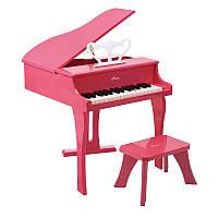 Фортепиано со стульчиком Hape Розовое (E0319)