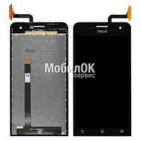 Дисплей для Asus ZenFone 5 черный, с тачскрином