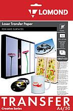 Термотрансфер Lomond для лазерной печати, для твёрдых поверхностей, А4, 140 г/м2, 50 листов