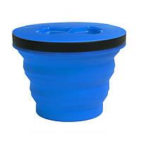 Складная кастрюля с крышкой Sea To Summit XSeal & Go M blue
