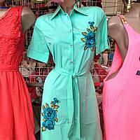 Платье с вышивкой очень красивое и легкое