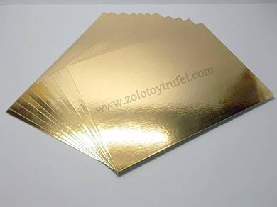 Подложки для торта золото-серебро 20 х 30 см (50 шт)