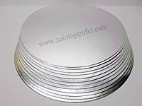 Подложка для торта золото-серебро d 34 см