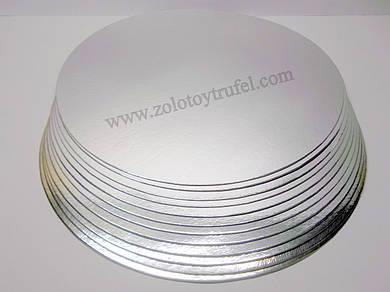 Подложка для торта золото-серебро d 38 см