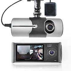 Видеорегистратор DVR R300 с GPS НА 2 камеры + G сенсор