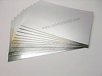 Подложка для торта золото-серебро 25 х 35 см