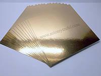 Подложка для торта золото-серебро 30 х 30 см