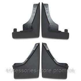 Брызговики передние  для Mercedes GLC, а/м с подножками, черные , структурная поверхность