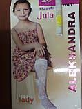 Гольфи білі капрон дитячі підліток Jula, фото 2