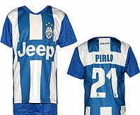 Детская (5-10 лет) футбольная форма ''Пирло''- ФК''Ювентус'' (Турин) (2012/2013) - сине-белая, резервная