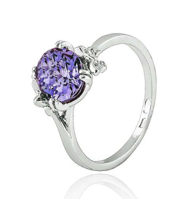 Серебряное кольцо с Александритом и фианитами Бабочки картинка