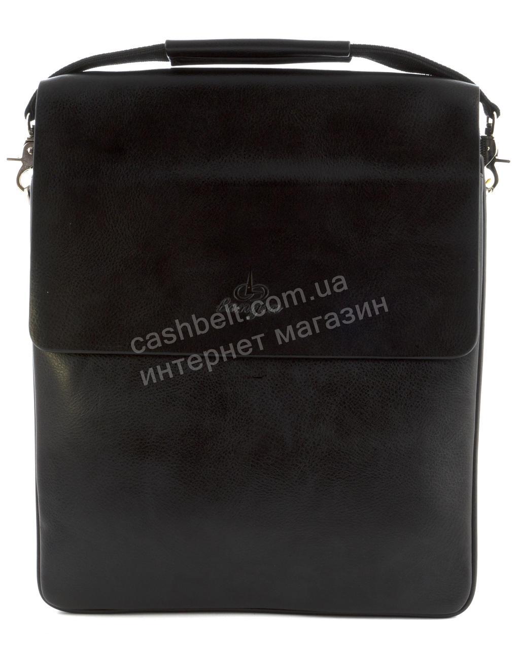 Качественная прочная мужская сумка почтальонка с качественной PU кожи LANGSA art. TP6686-5 черный
