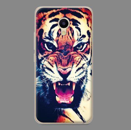 Силиконовый чехол бампер для Meizu M5s с картинкой Тигр