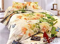 Постельное белье евро ранфорс Розы,постельный комплект