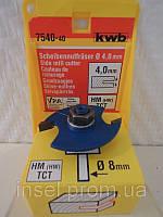 Фреза дисковая kwb HM пазовая 4 мм