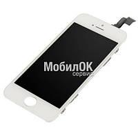 Дисплей для Apple iPhone 5C белый, с тачскрином, High Copy