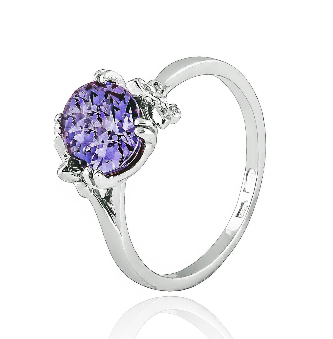 Серебряное кольцо с александритом Бабочки