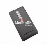 Задняя крышка для Nokia 210 Asha черная, оригинал (02503F5)
