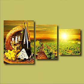 """Модульная картина """"Белое вино"""""""