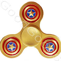 Металлический спиннер Captain America