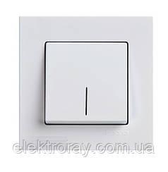 Выключатель с подсветкой Gunsan Eqona белый