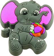 Ручка-кнопка мебельная Elefant 22 x 42 x 47 (Серый)