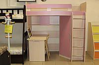 Дитяче ліжко-стіл серії 7-3-3-92 зі складу, фото 1