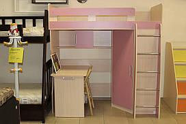 Детская кровать-стол серии 7-3-3-92 со склада