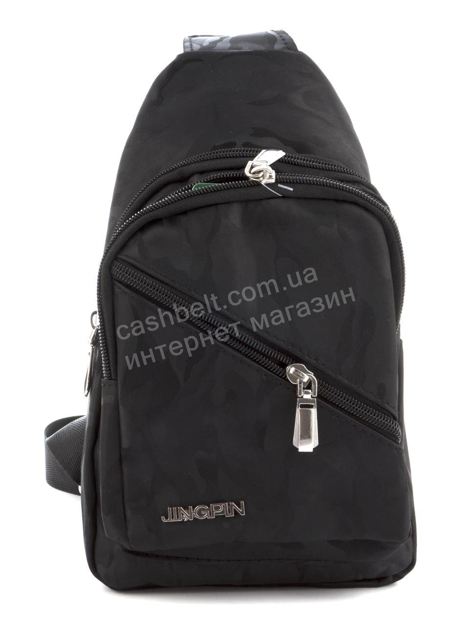 Прочный вместительный удобный  рюкзак на одну лямку art. (100846) черный