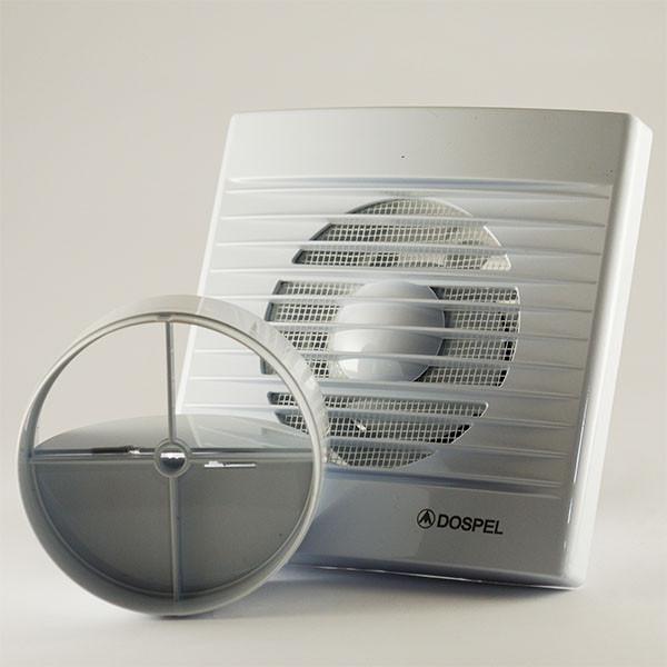 Вытяжной осевой вентилятор для ванных комнат и туалетов с обратным клапаном Dospel STYL 100 S-P 007-0001P