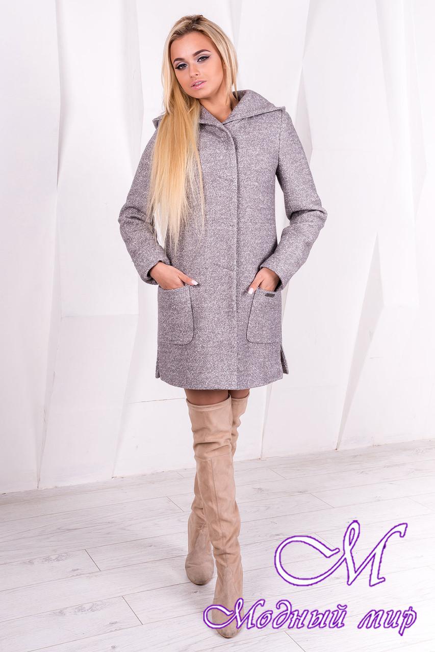 Женское демисезонное пальто с капюшоном (р. S, M, L) арт. Эльза 1353 -10010