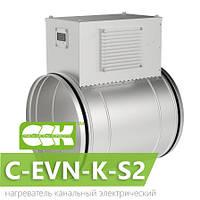 Воздухонагреватель канальный электрический для круглых каналов C-EVN-K-S2-125-2,4