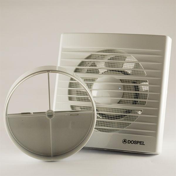 Бесшумный бытовой вытяжной осевой вентилятор с обратным клапаном Dospel STYL 120 S-P 007-0003P