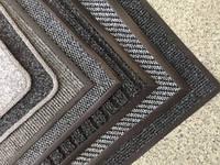 Грязезащитные придверные ковры черные (серые)