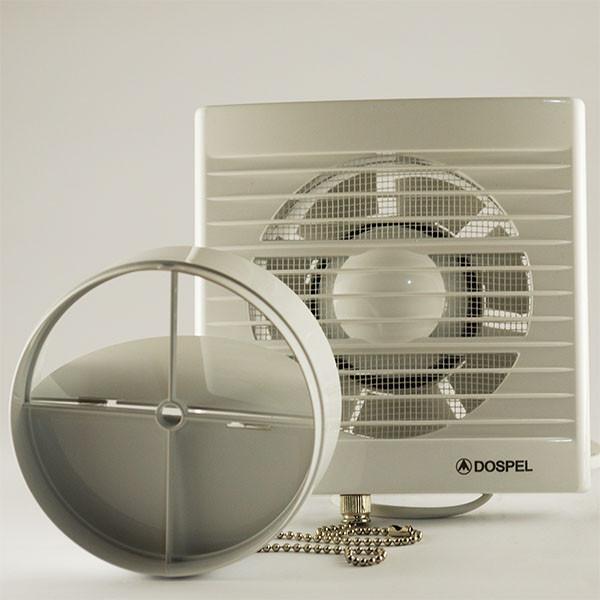 Вытяжной вентилятор с обратным клапаном для туалета и ванной Dospel STYL 120 WP-P 007-0004P