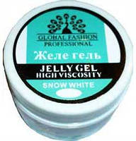 Гель желе  для ногтей Global 14 мл белый