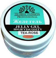 Гель желе  для ногтей Global 14 мл чайная роза
