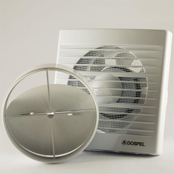Вытяжной осевой вентилятор с датчиком влажности и обратным клапаном для ванной Dospel STYL 120 WCH-P 007-0010P